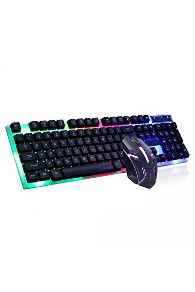 Kablolu Led Işıklı Oyuncu Klavye & Mouse Seti