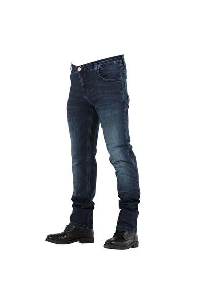 Overlap Monza Dark Blue Kevlar Jeans Motosiklet Pantolonu