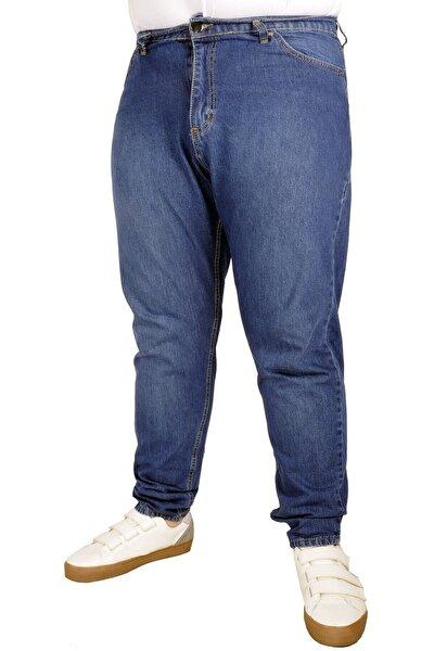 Büyük Beden Erkek Pantolon Kot 5cep Vertical Lycra 21915 Lacivert