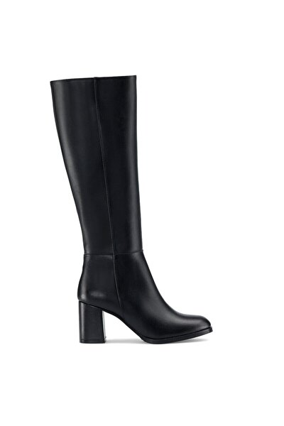 Setra 1pr Siyah Kadın Topuklu Çizme