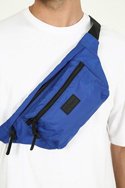 Lacivert Unisex Cepli Bel Çantası-bodybag(yan Asılarak Kullanıma Uygun)