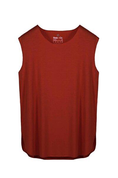Harper Kırmızı Viskon Kolsuz T-shirt/atlet