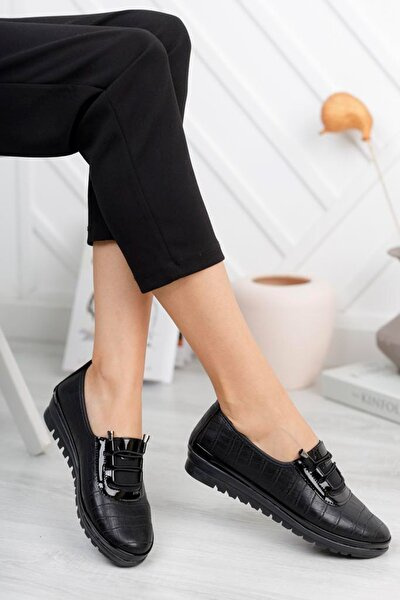Tam Ortopedik Siyah Günlük Bayan Ayakkabı