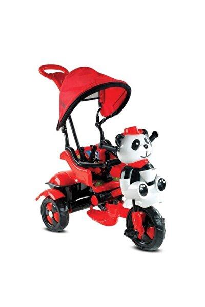 127 Little Panda Ebeveyn Kontrollü Tenteli Müzikli Tricycle Üç Teker Bisiklet -kırmızı/siyah