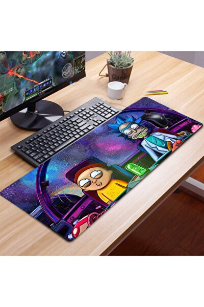 Xl Rıck And Morty 70x30 cm 3mm Kauçuk Kaymaz Taban Oyuncu Gaming Mouse Pad