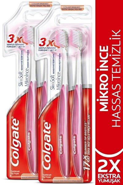 Mikro Ince Hassas Temizlik Yumuşak Diş Fırçası 1+1 X 2 Adet