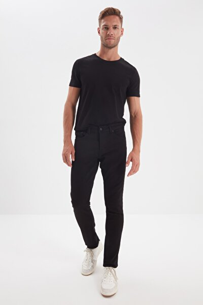 Siyah Erkek Skinny Jeans TMNAW21JE0226