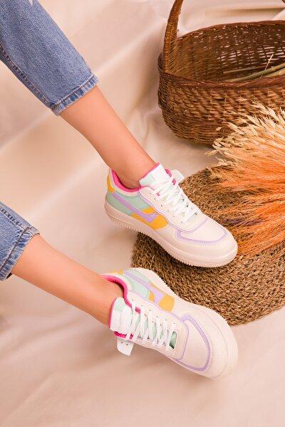 Bej-Renkli Kadın Sneaker 15278