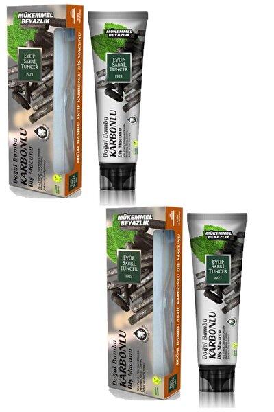 Doğal Aktif Bambu Karbonlu Diş Macunu 75 ml + Diş Fırçası Hediyeli X 2 Adet