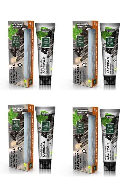 Doğal Aktif Bambu Karbonlu Diş Macunu 75 ml + Diş Fırçası Hediyeli X 4 Adet