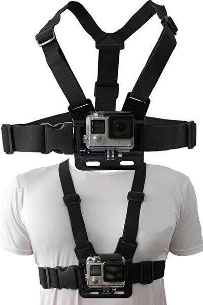 Go Pro ve Aksiyon Kamera Göğüs Bağlantı Askısı Aksiyon Kamera Sabitleme Aparatı