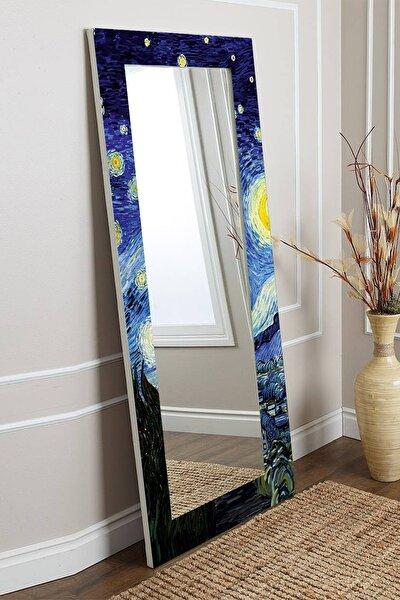 Van Gogh Yıldızlı Gece Dekoratif Boy Aynası 150x60cm