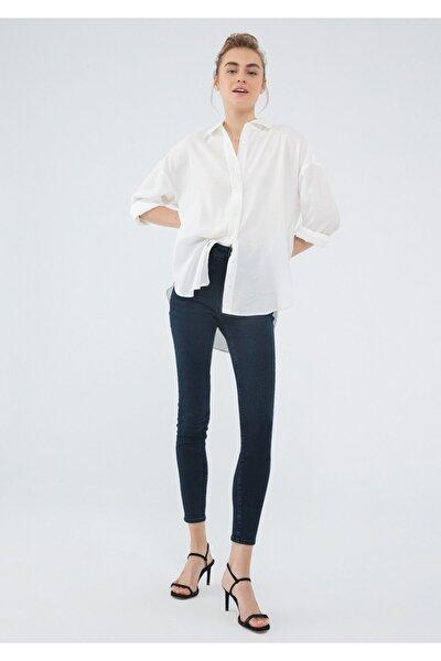 Serenay Gold Shape Jean Pantolon