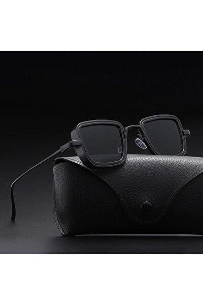 Steampunk Metal Çerçeveli Unisex Güneş Gözlüğü Siyah