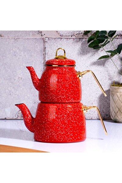 Emaye Çaydanlık Kırmızı 3 lt