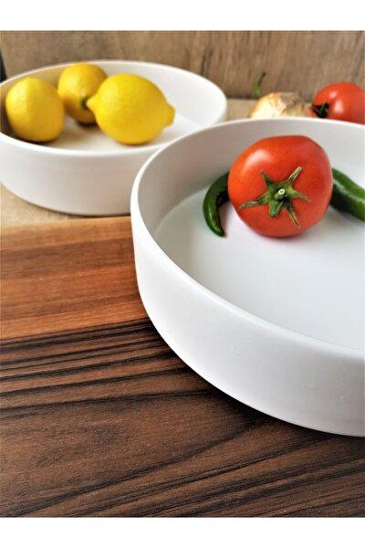 Salata Kasesi Mat Beyaz 2 Adet