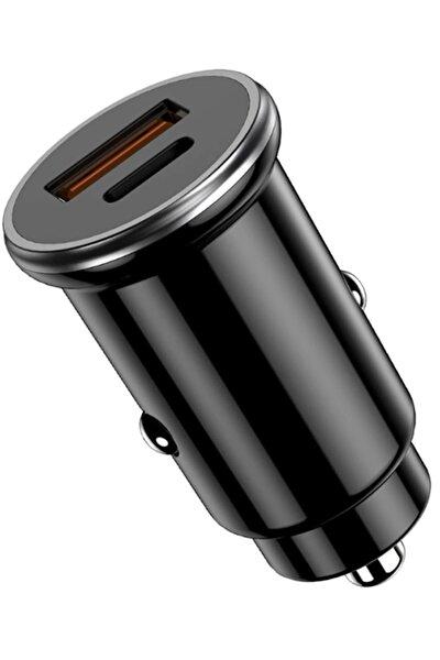 Araç Çakmaklık Şarj Aleti 20w Pd Type-c Ve Usb Çıkışlı Hızlı Şarj Qc 3.0