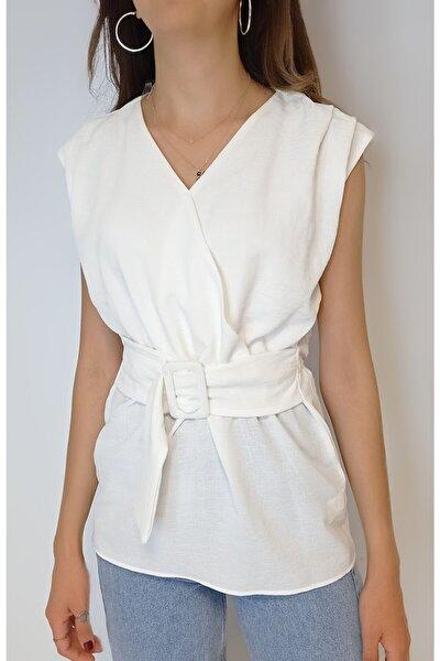 Kadın Sıfır Kol Bluz Yy100804