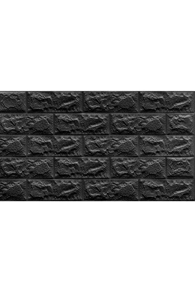 Kendinden Yapışkanlı Siyah Tuğla Desen Duvar Kağıdı Panel 70x38cm