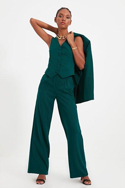 Yeşil Geniş Paça Pantolon TWOSS21PL0189