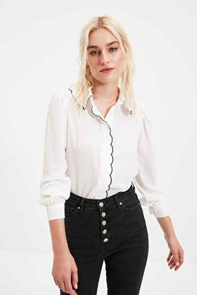 Beyaz Yaka Detaylı Gömlek TWOAW21GO0302