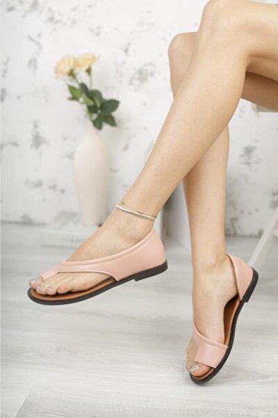 Kadın Pembe Parmak Arası Sandalet