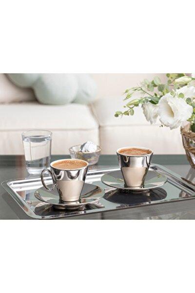 Asto Porselen 2'li Kahve Fincan Takımı 80 ml Silver