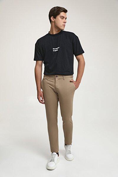 Slim Fit Camel Chino Pantolon