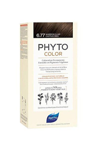 Color 6.77 - Cappuccino Kahve (Bitkisel Saç Boyası) -