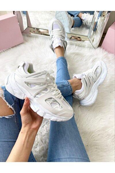 Vector Beyaz Sneaker Spor Günlük Ayakkabı