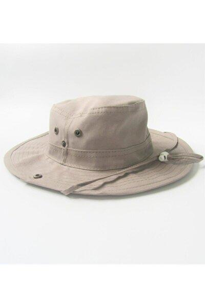 Koyu Bej Katlanabilir Safari Şapkası