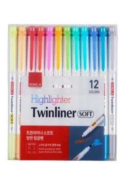 Donga Twınlıner Soft Fosforlu Kalem 12 Li Set