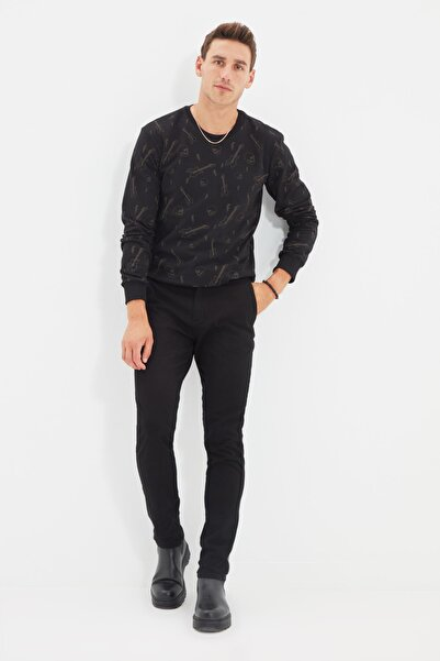 Siyah Erkek Chino Slim Fit Pantolon TMNSS21PL0231