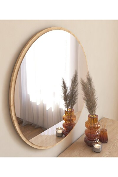Dekoratif Yuvarlak Ayna Natural Antre Hol Koridor Duvar Salon Mutfak Banyo Wc Ofis Aynası Mg301