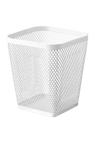 Beyaz Renk Kalemlik Metal Meridyendukkan Çok Amaçlı Masa Üzeri Düzenleyici Kalemlik