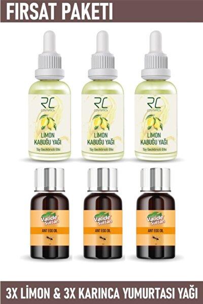 Tüy Azaltıcı Ve Geciktirici Etkili Limon Kabuğu Yağı Serumu 3 Adet& Karınca Yumurtası Yağı 3 Adet