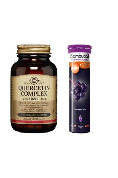 Quercetin Complex With Ester-c Plus 50 Kaps+sambucol Plus Efervesan Tablet