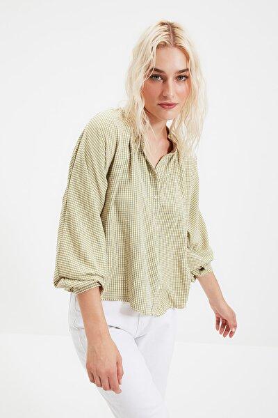 Yeşil Ekoseli Gömlek TWOAW21GO0114