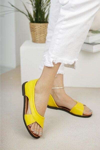 Kadın Sarı Babet Sandalet