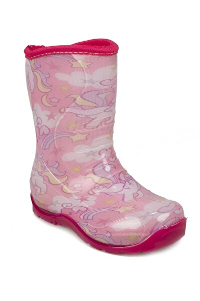 Nn0607 Yağmur Pembe Çocuk Çizme