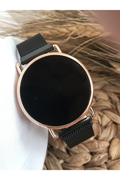 Erkek Siyah Mıknatıs Kordon Kol Saati