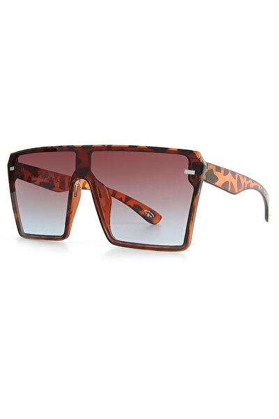 Kadın Kahverengi Leopar Güneş Gözlüğü Apss067303