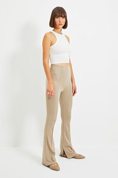 Taş Flare Örme Pantolon TWOAW22PL0184