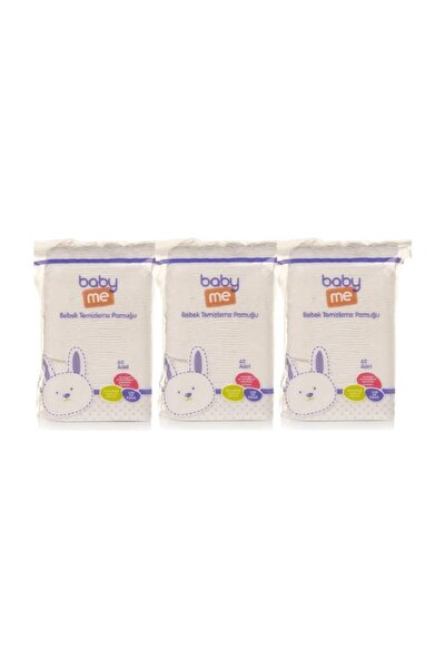 Bebek Temizleme Pamuğu 3 Lü Paket 60 Adetli