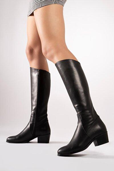 Hakiki Deri Kadın Çizme Uzun Kışlık Kadın Ayakkabı