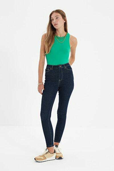 Lacivert Yüksek Bel Skinny Jeans TWOSS21JE0346