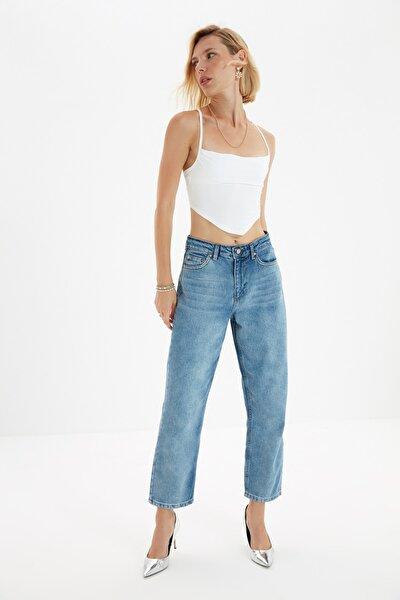 Mavi Yüksek Bel Dad Jeans TWOSS20JE0165