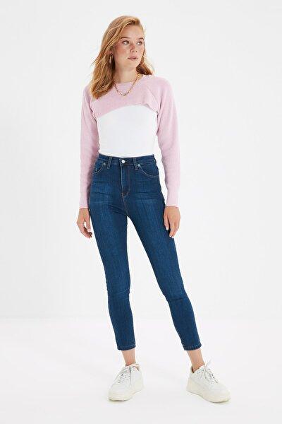 Lacivert Yüksek Bel Skinny Jeans TWOSS20JE0302