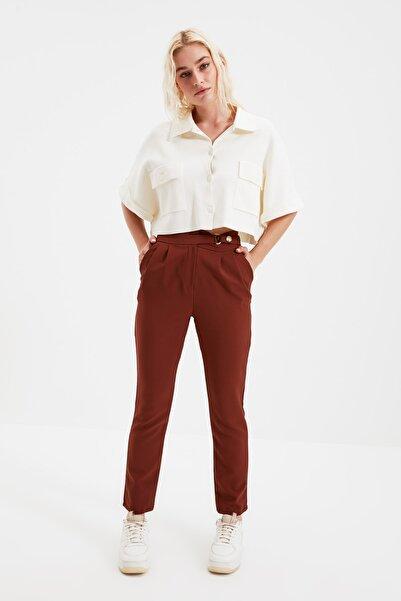 Kahverengi Çıtçıtlı Pantolon TWOSS20PL0131