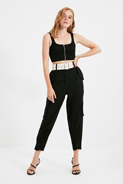 Siyah Kemerli Pantolon TWOSS21PL0677